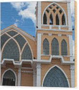 Church Steeple In Ibarra Wood Print