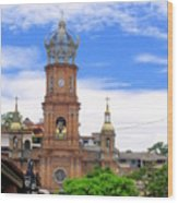 Church Steeples In Puerto Vallarta Wood Print