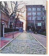 Church Street Cobblestones - Philadelphia Wood Print by Bill Cannon