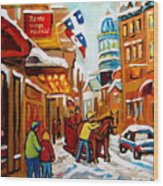Church Street In Winter Wood Print