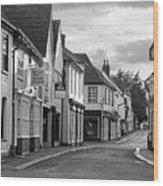 Church Street Sawbridgeworth In Black And White Wood Print