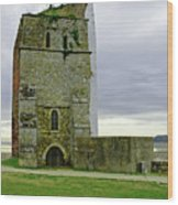 Church Tower - Remains Of St Helens Church Wood Print