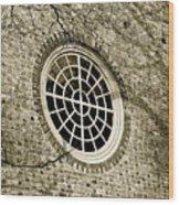 Church Window And Shadows 2 Wood Print