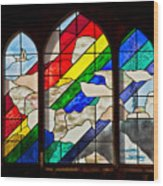 Church Window Wood Print