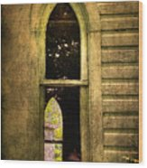 Church Window Church Bell Wood Print