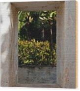 Church Window West Wood Print