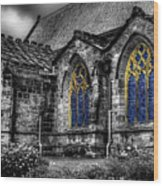 Church Windows Wood Print