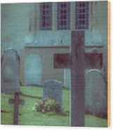 Church Yard Wood Print