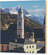 Churches In Berchtesgaden Wood Print