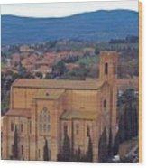 Churches Of Sienna Wood Print