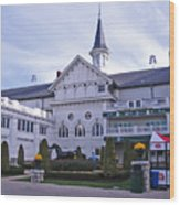 Churchill Downs Paddock Area Behind The Twin Spires Wood Print