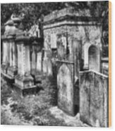Churchyard Of Old Charleston Wood Print