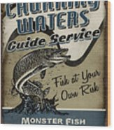 Churning Waters Guide Service Wood Print
