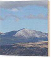Cibola Mountains Wood Print
