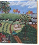 Cider Valley Wood Print