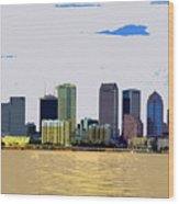 Cigar City Skyline Wood Print