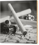 Cigarette And Lighters Wood Print