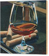 Cigars And Brandy Wood Print