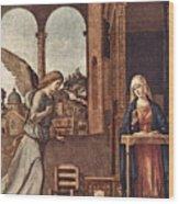 Cima Da Conegliano The Annunciation Wood Print