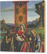 Cima Da Conegliano The Madonna And Child With St John The Baptist And Mary Magdalen Wood Print