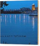 Cincinnati Belle Suspension Bridge Wood Print