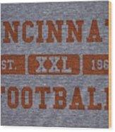 Cincinnati Bengals Retro Shirt Wood Print