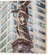 Cincinnati Fountain Genius Of Water By Tyler Davidson  Wood Print by Paul Velgos