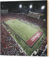 Cincinnati Nippert Stadium The Home Of Bearcat Football Wood Print by University of Cincinnati