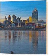 Cincinnati Skyline Across The Ohio River Wood Print