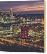 Cincinnati Sunrise Wood Print