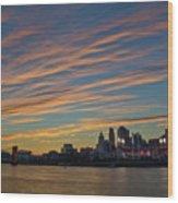 Cincinnati Sunset Wood Print