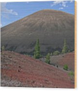 Cinder Cone And Painted Sands Wood Print