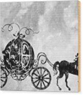 Cinderella's Carriage-black Wood Print
