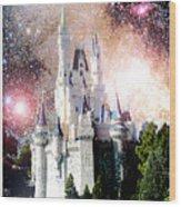 Cinderella's Castle, Fantasy Night Sky, Walt Disney World Wood Print