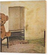 Cinders Bear Wood Print