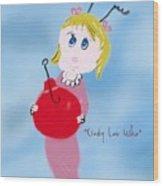Cindy Lou Who Illustration  Wood Print