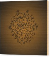 Cindy's Flower Dark Wood Print