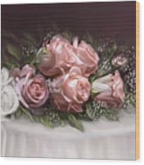 Spray Of  Roses Wood Print