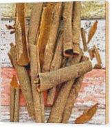 Cinnamon Bark Wood Print
