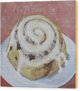 Cinnamon Roll Wood Print