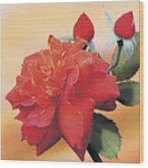 Cinnamon Roses Wood Print