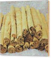 Cinnamon Sticks Wood Print