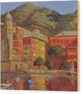 Cinqua Terra Italian Fishing Village Wood Print