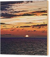 Cinque Terre - Sunset From Manarola - Panorama Wood Print