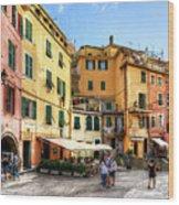 Cinque Terre - Vernazza Main Street Wood Print