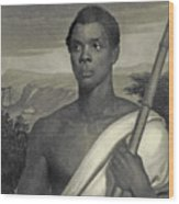 Cinque, The Chief Of The Amistad Captives Wood Print