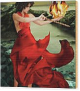 Circe, Greek Mythological Goddess Wood Print