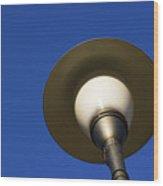 Circle And Blues Wood Print