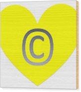 Circle C Yellow Wood Print
