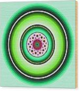 Circle Motif 229 Wood Print